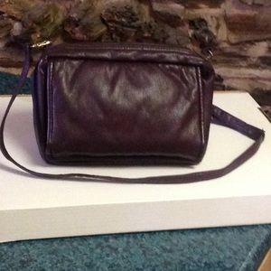 "Handbags - Vintage ""BAGGLADY"" burgundy cross body purse"